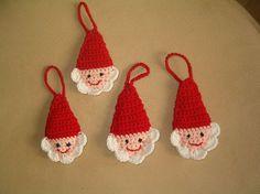 Father Christmas heads crochet