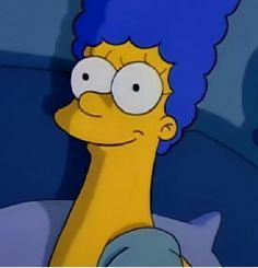 Marge Simpson being hopeful.