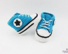 Crochet Baby Sneakers Crochet Newborn Booties Soft by Yunisiya