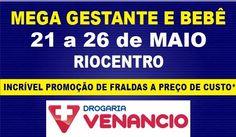 De 21 (terça) a 26 (domingo) de maio de 2013, será realizada mais uma edição da Mega Gestante e Bebê, no Pavilhão 3 do Riocentro.