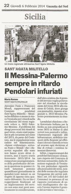 I Pendolari e le Infrastrutture in Sicilia: Il Messina-Palermo sempre in ritardo, Pendolari in...