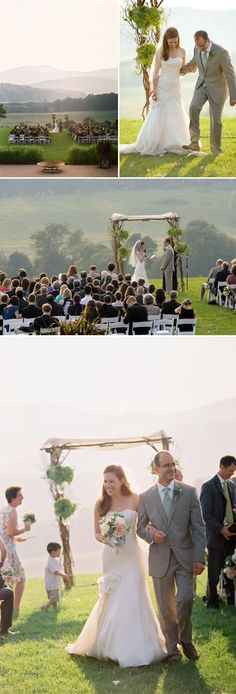 Wedding ceremony at gorgeous Pippin Hill Farm & Vineyards.  Photo by Jen Fariello.