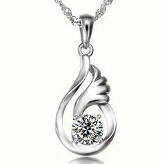beifu 2015 aaa 925 sterling silver angel wings necklace pendant fine