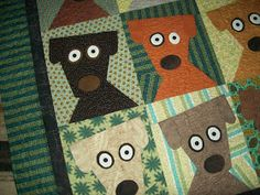 Jeni's blog from the Willow: Doggie quilt Finished and auctioned off!