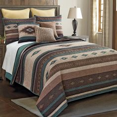 Southwestern Bedding, Southwest Bedroom, Rustic Bedding Sets, Western Bedding Sets, Home Decor Online, Cheap Home Decor, Western Furniture, Furniture Decor, Quilt Sets Queen