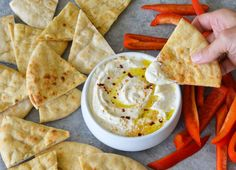Similar to htipiti, the salty, tangy spread that's typically served as part of a Mediterranean mezze, this dip is fabulous with toasted pita or veggies.