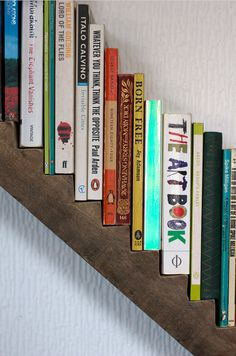 Stunning Creative Bookshelves Design Ideas 21 image is part of 25 Stunning Creative Bookshelves Design Ideas gallery, you can read and see another amazing image 25 Stunning Creative Bookshelves Design Ideas on website Do It Yourself Furniture, Diy Furniture, Book Storage, Book Shelves, Storage Sheds, Home And Deco, Book Nooks, Home Projects, Shelving
