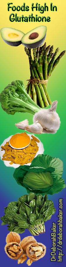 Foods Which Will Up Your Body's Glutathione http://drdeborahbaker.com