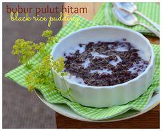 Indonesian Medan Food: Bubur Ketan Hitam / Black Rice Pudding