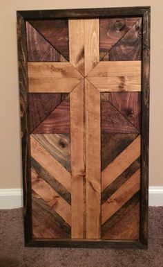 A personal favorite from my Etsy shop https://www.etsy.com/listing/232979772/handcrafted-stained-wooden-cross-wall
