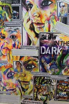 Sketchbook pages exemplar A Level Art Sketchbook, Sketchbook Layout, Sketchbook Inspiration, Sketchbook Ideas, Roy Lichtenstein, Pop Art, Portraits, High Art, Collage