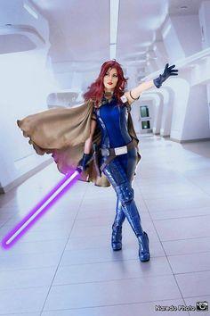 Queen Azshara Cosplay as Mara Jade (Star Wars) Latex Cosplay, Cosplay Costumes, Jedi Costume, Star Wars Jedi, Star Wars Art, Star Trek, Mara Jade Skywalker, Star Wars Personajes, Star Wars Girls