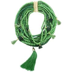 Rosantica Women Etna Beaded Multi-strand Necklace (28 130 UAH) ❤ liked on Polyvore featuring jewelry, necklaces, bracelets, green, magnetic jewelry, multi strand chain necklace, green necklace, multi strand beaded necklace and bead strand necklace