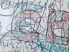 Detail - Ausschnitt - Nachhall - Erinnerung - Spur - Scribble - Zeichnung - Aufzeichnung - Nähe - Distanz