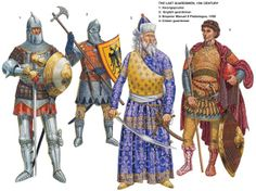 For nearly 500 years, the purple-clad emperors of Byzantium were guarded on the battlefield and in their porphyry palace by an axe-wielding body of fierce Viking warriors: The Varangian Guard! Military Art, Military History, Byzantine Army, Varangian Guard, Empire Romain, Armadura Medieval, Landsknecht, Medieval Knight, Historical Art