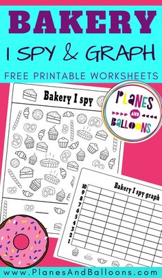 Free printable I spy activity for kids - counting and graph worksheets for kindergarten. Graphing Worksheets, Graphing Activities, Kindergarten Math Activities, Worksheets For Kids, Number Activities, Counting Activities, Kindergarten Classroom, Toddler Activities, Classroom Ideas