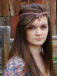 Elven Circlet - MARIAN - Celtic Hand Wire Wrapped - Choose Your Own COLORS - Bridal Crown Tiara