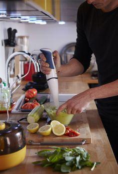 Zmixujte prísady ponorným mixérom.