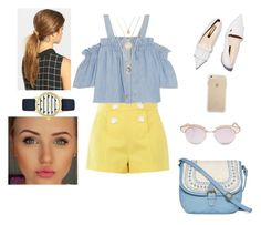 """""""Almost nautical beauty"""" by vintagegabbi on Polyvore featuring Le Specs, T-shirt & Jeans, Boutique Moschino, Steve J & Yoni P, Rupert Sanderson, Ficcare and Kate Spade"""