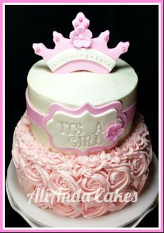 It's a girl baby shower cake.  Www.facebook.com/AliAndaCakes