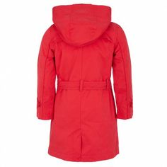 Coral Double Breasted Trench Coat