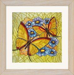 DK2015 Dance of butterflies. Bead embroidery kits #nova_sloboda #embroidery #handmade #butterfly