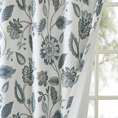 Room Darkening Curtains, Drapes Curtains, Bedroom Curtains, Drapery, Floral Room, Thing 1, Window Panels, Curtain Panels, Exterior Lighting