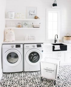 "3,104 Likes, 44 Comments - Style Me Pretty Living (@smpliving) on Instagram: ""I don't think we've ever seen a laundry room as pretty as this one. Kind of makes us want to…"""