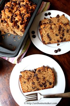 Dark Chocolate Peanut Butter Bread
