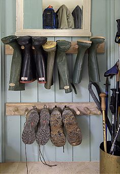 creative and unique shoe rack ideas for small spaces mudroom entryway shoe rack and diy shoe rack Boot Storage, Garage Storage, Shoe Storage Pegs, Storage For Boots, Shoe Storage Ideas For Garage, Diy Storage, Shoe Storage Porch, Mudroom Storage Ideas, Garage Mudrooms
