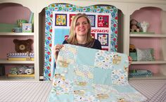 How to Make a Quick & Simple Receiving Blanket DIY Tutorial - Fat Quarte...