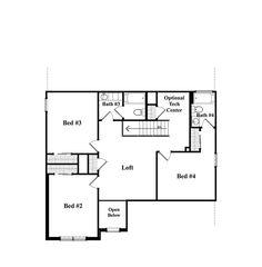Whitmore A - Upper Level Floor Plan