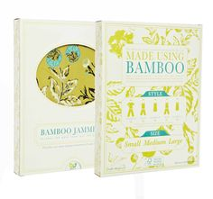 """via thedieline.com """"Creed Design in Charlottesville created this packaging for This is J, the company behind Bamboo Jammers which are, what else, pajamas made from bamboo."""" #packaging #apparel #pattern"""