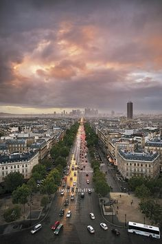 Fabulous View from the Arch Of Triumph - Paris, France