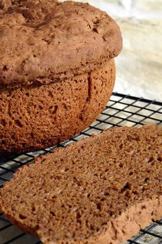 Gluten Free Pumpernickel Bread-Sabrina brought me a slice and it is the best!  Keeps on the counter for a week!