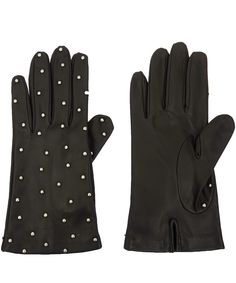 Portolano Black Studded Leather Gloves | Accessories | Liberty.co.uk