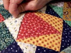 Hand-Quilting Without Knotting Or Tacking Threads