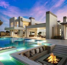 Amazing Swimming Pools, Cool Pools, Modern Villa Design, Mega Mansions, Luxury Mansions, Rest House, Property Design, Luxury Homes Dream Houses, Desert Homes