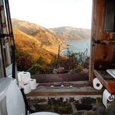Looking over the water in Big Sur, California: