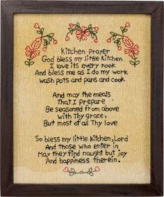Kitchen Prayer Stitchery