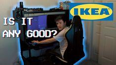 Gaming Desk Setup, Gaming Computer, Desk Hacks, Chill Room, Ikea Desk, Walking Dead, Game Room, Tattoo, Games