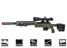Well Full Metal MB4410 Bolt Action Spring Powered Sniper Rifle Airsoft Gun (OD) http://www.airsoftgi.com/product_info.php?cPath=139_742_113&products_id=19924