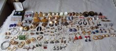 Earrings Vintage Post Hoop Turn Back Over 50 Pairs Nice Collection Some New LOOK #MixedLot