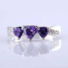 'Genuine Amethyst & .925 Sterling Silver Size 7' is going up for auction at  3pm Fri, Sep 14 with a starting bid of $10.