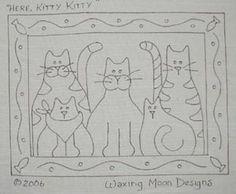 Original Rug Hooking designs by Waxing Moon
