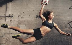 Hope Solo pictured for a Nike campaign in 2011. The goalie told ESPN that following her personal problems and arrests, she has been dropped from her endorsement deals and is now totally focused on her sport