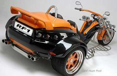 Custom Trikes, Custom Motorcycles, Cars And Motorcycles, Vw Trike, Trike Motorcycle, Lowrider Bike, Harley Bikes, Big Rig Trucks, Drag Cars