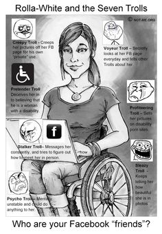 Say NO! to Facebook Predators: Disability Trolls, Pedophiles, Human Traffickers - blog with a lot of information on devotees and other disability fetishists.