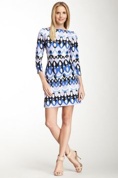 Ali Ro 3/4 Length Sleeve Back Cutout Jersey Dress by Non Specific on @HauteLook