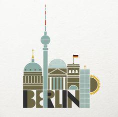 BERLIN - illustration by Solvita Marriott, via Behance